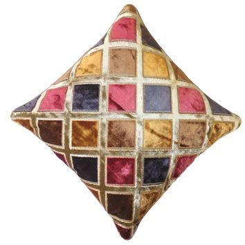 """16"""" x 16"""" with INSERT Sheen Soft Decorative Velvet Throw Pillow Luxury Shinny Square Cushion for Couch Sofa Bedroom and Living Room Gold Multicolor"""