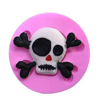 Skull Shape Silicone Cake Mold,Kitchen Baking Mold For Chocolate Pastry Candy,Fondant Cakes Decorating Tools