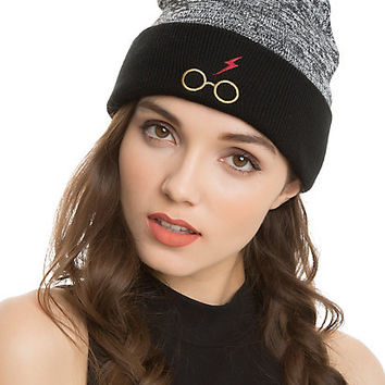 Harry Potter Glasses Logo Watchman Beanie