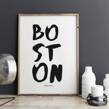 Boston Print, Boston Poster for office decor, gifts, work desk, city prints, Boston city Prints, art, Wall Art, Art