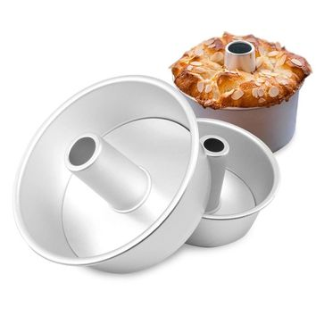 Aluminum Alloy Round Hollow Chiffon Cake Mold Angel Food Cake Pan Baking Mould with Removable Bottom