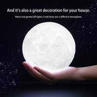 ICOCO 3D Magical Moon LED Night Light Moonlight Desk Lamp USB Rechargeable 3 Light