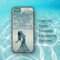 Dance In The Rain, iphone 5 case, iphone 4 case, ipod 4 case, ipod 5 case, Samsung galaxy S3, Samsung galaxy S4, note 2, blackberry q10, z10