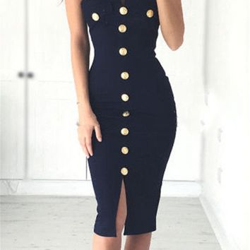 Sexy Womens New Chic Dress Strapless Sexy Pencil Evening Party Clothes Ladies Bandage Summer Hot Dress 2017 Fashion
