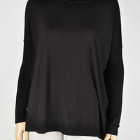 Black Long Sleeve Piko Top from Rad and Lux