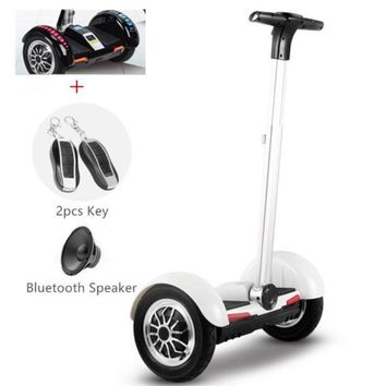 White Segway Electric Scooter Hoverboard with Handle