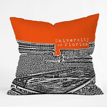 Bird Ave University Of Florida Orange Throw Pillow