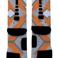 Orange Bolts Custom Nike Elites
