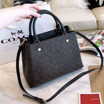 COACH Fashionable Women Shopping Bag Leather Handbag Tote Shoulder Bag Crossbody Satchel