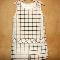 Baby toddler girl Spring dress, pinafore, woolen cloth or cotton, tartan choice. MADE TO ORDER