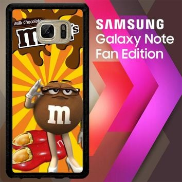 Chocolate Candy M&M Y2361 Samsung Galaxy Note FE Fan Edition Case