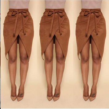 Winter Hot Sale Luxury Split Skirt [11359550983]