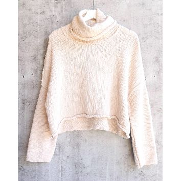 Free People Big Easy Cowl Sweater - Cream