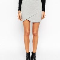 ASOS Mini Skirt in Sweat with Wrap at asos.com