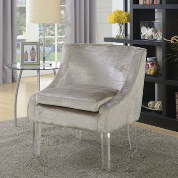 Tristan Alligator Fabric Accent Chair Beige Mist - Picket House Furnishings