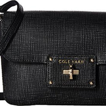 COLE HAAN WOMENS JOZIE SMARTPHONE CROSSBODY BAG BLACK CROSSBODY BAG