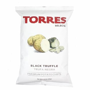 Torres 4.4 oz Black Truffle Potato Chips, Large Pack (125g)