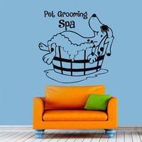 Pet Grooming Wall Decal Dog Grooming Salon Decals Vinyl Stickers Puppy Pet Shop Animal Decor Nursery Bedroom Wall Art Interior Design Z854