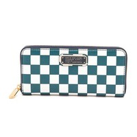 Marc by Marc Jacobs New Q Checkered Slim Zip Around Wallet