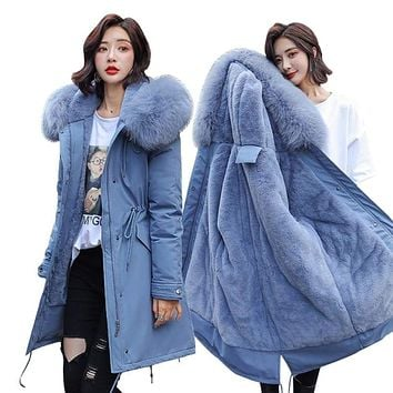 Winter Parkas 2019 winter -30 degree women's Parkas coats hooded fur collar thick section warm winter Jackets snow coat jacket