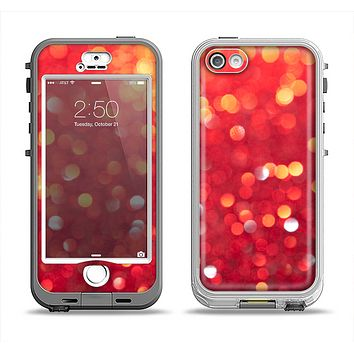The Unfocused Red Showers Apple iPhone 5-5s LifeProof Nuud Case Skin Set