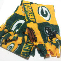Green Bay Packers Polar Fleece, Infinity Scarf, Kids Adults, Double Layer, Women Men Accessory