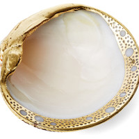 24-Kt Gold Plated Clam Shell, Coral, Barnacles, Shells & Starfish