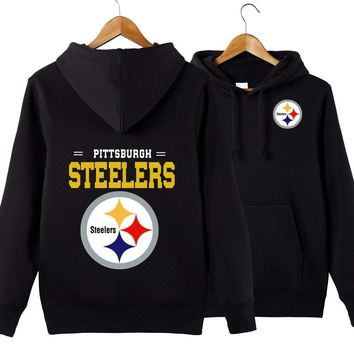 Men's casual hoodie NFL American football sweatshirt coll pullover Pittsburgh Steelers
