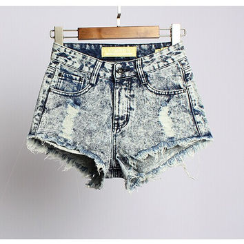 Women's Fashion denim shorts Hot Summer Jeans Festival