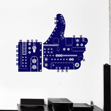Wall Stickers Thumb Up Steampunk Like Network Social Mural Art Unique Gift ig4306