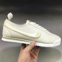 NIKE Classic Cortez Leather Men Fashion Casual Running Sport Shoes Sneakers White G-XYXY-FTQ