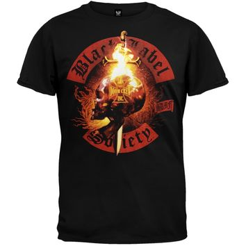 Black Label Society - Flaming Skull T-Shirt