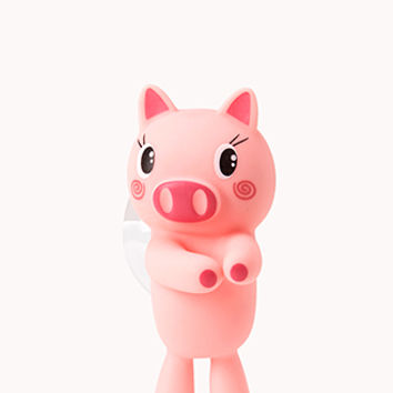 FOREVER 21 Piggy Toothbrush Holder Pink One