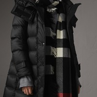 Detachable Hooded Down-filled Puffer Coat in Black - Women | Burberry
