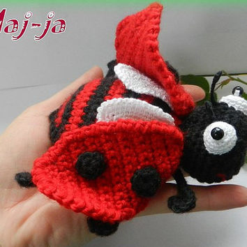 Ladybug * Amigurumi crochet ladybug * crochet insect * gift for a friend * Animal crochet * crochet toys * Handmade*summer*red