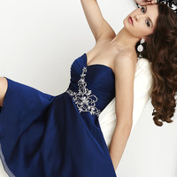Short Strapless Homecoming Dress by Hannah S