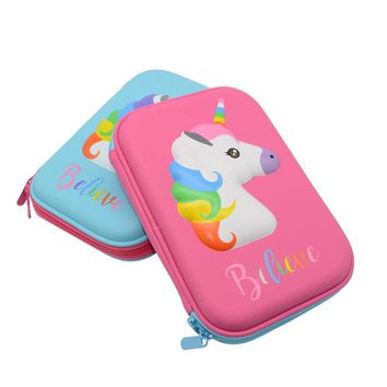 unicorn pencil case EVA kalem kutusu Kawai school supplies Creativity estuche escolar astuccio scuola pencilcase pen case