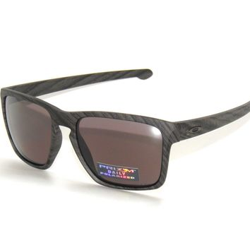 CLEARANCE*OAKLEY SUNGLASSES SLIVER XL 9341-11 WOODGRAIN PRIZM DAILY POLARIZED
