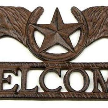 Cast Iron Horse Star Welcome
