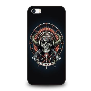 affliction indian skull iphone se case cover  number 1