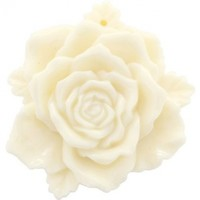 Cream 3D Camellia Flower Pin Brooch Flower Pendant and Hair clips