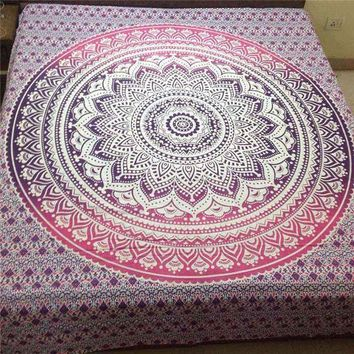 ESBU3C Newest Indian Mandala Tapestry Wall Hanging Printed Beach Throw Towel Yoga Mat Table Cloth Bedding Outlet Home Decor 200x150cm
