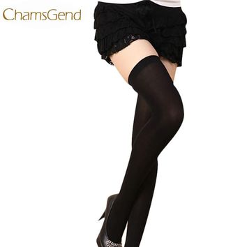 Chamsgend Newly  Candy Color Women's Trendy Sexy Velvet Silk Stockings Overknee High Tights Black White Red Khaki Blue ZQ