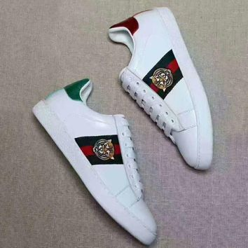 Gucci Woman Fashion Tiger Embroidery Flats Shoes Sneakers Sport Shoes G-CSXYQGCZDL-CY