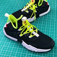 Nike Air Huarache 6 Drift Prm Black Green Sport Running Shoes - Best Online Sale