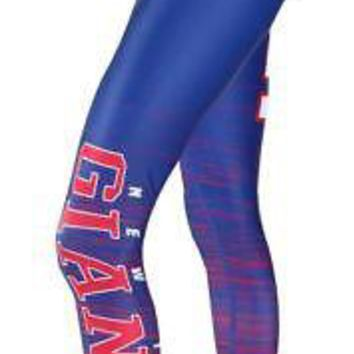 "New York  Giants Leggings Women's ""Yard Lines"" Yoga Pants Concept Sports NFL"