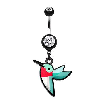 Hummingbird Belly Button Ring