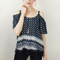 Shimmy Cold Shoulder Top