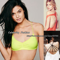 Celebrity Fashion New Summer Womens Strappy Bralette Cage Caged Back Cut Out Padded Bralet Casual Sport Crop Tank Top ST2032-in Camis from Apparel & Accessories on Aliexpress.com   Alibaba Group