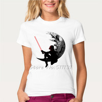 Newest 2017 Fashion Comic Star Wars Design T-Shirt Women's Darth Vader/Deadpool/Spiderman/T Shirt High Quality Cool Tops Tee